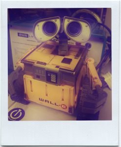 Wall-E, office mascot and good friend
