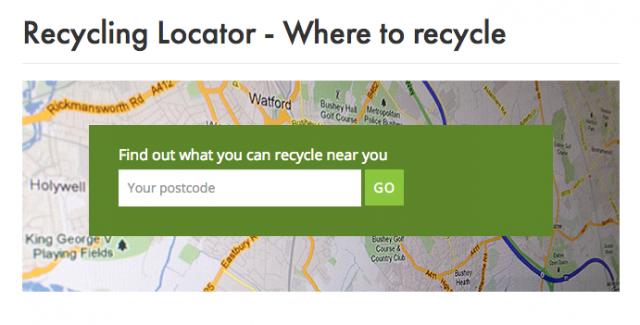 recyclenow postcode locator