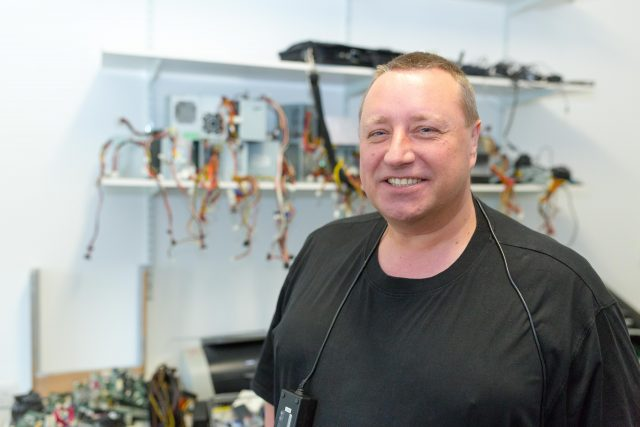 Picture of Paul Middleton with computer parts