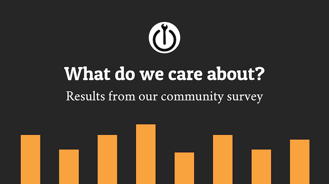 What do we care about? The results from our community survey.