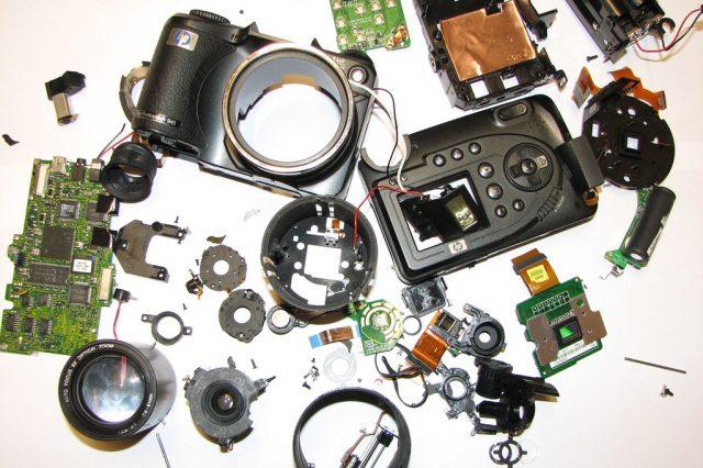 product taken apart, camera