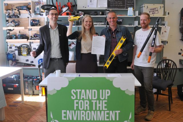 Restart and The Library of Things together with Green Party Leaders Jon Bartley and Siân Berry