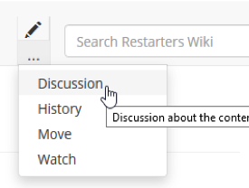 Page discussion button
