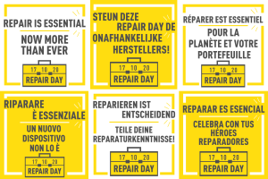 Repair Day slogans in many languages